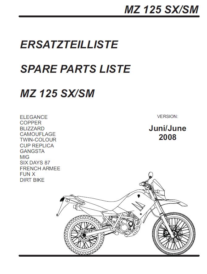 MZ - MZ SX 125 4T