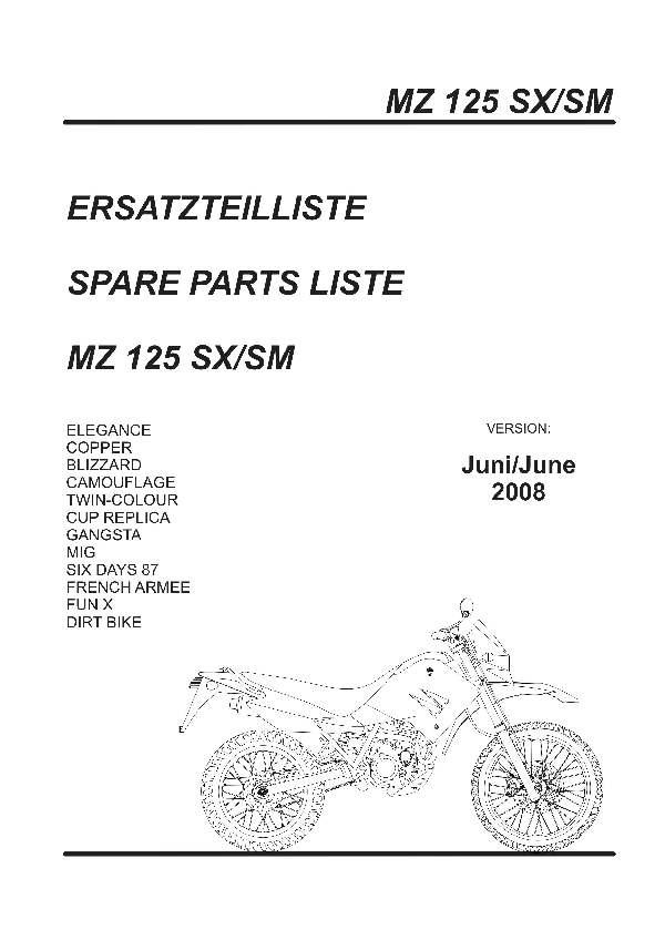 MZ - Katalog MZ 125 SX/SM