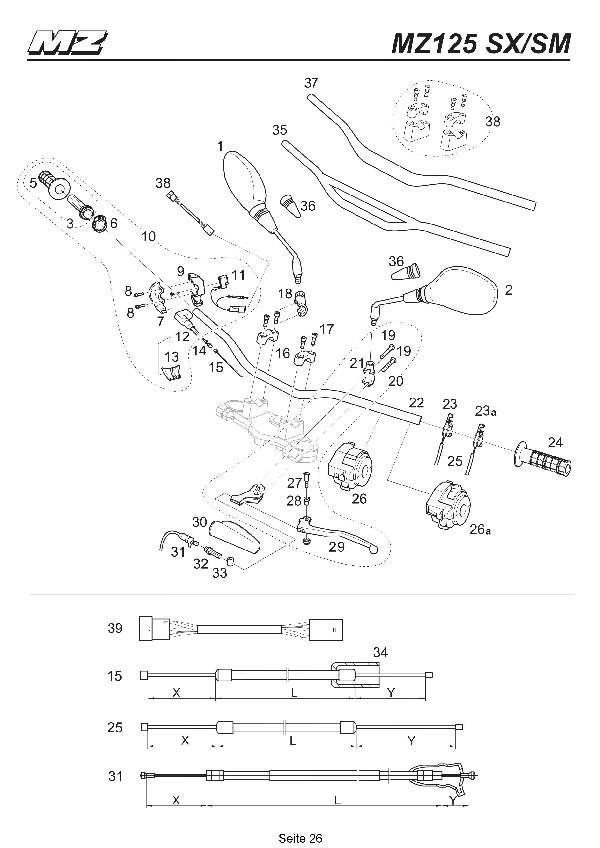 Katalog MZ 125 SX/SM - Lenker / handlebar - 21