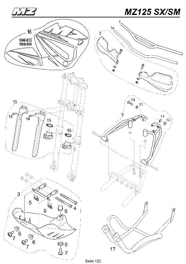 Katalog MZ 125 SX/SM - Zubehör 1 / accessory 1 - 117