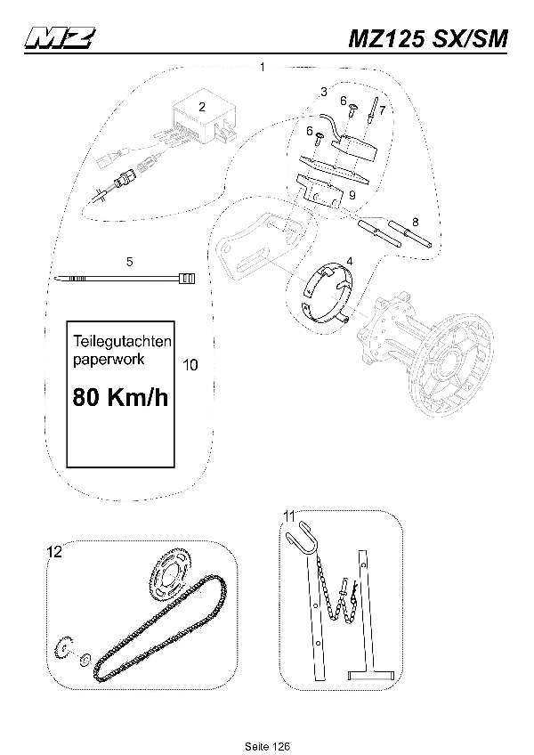 Katalog MZ 125 SX/SM - Zubehör 2 / accessory 2 - 121