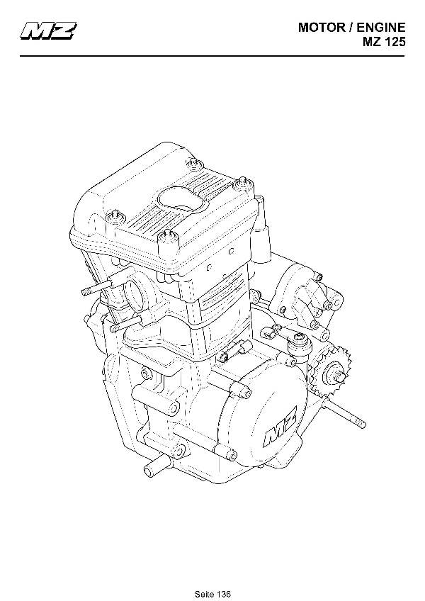Katalog MZ 125 SX/SM - Ersatzmotor / spare engine - 130