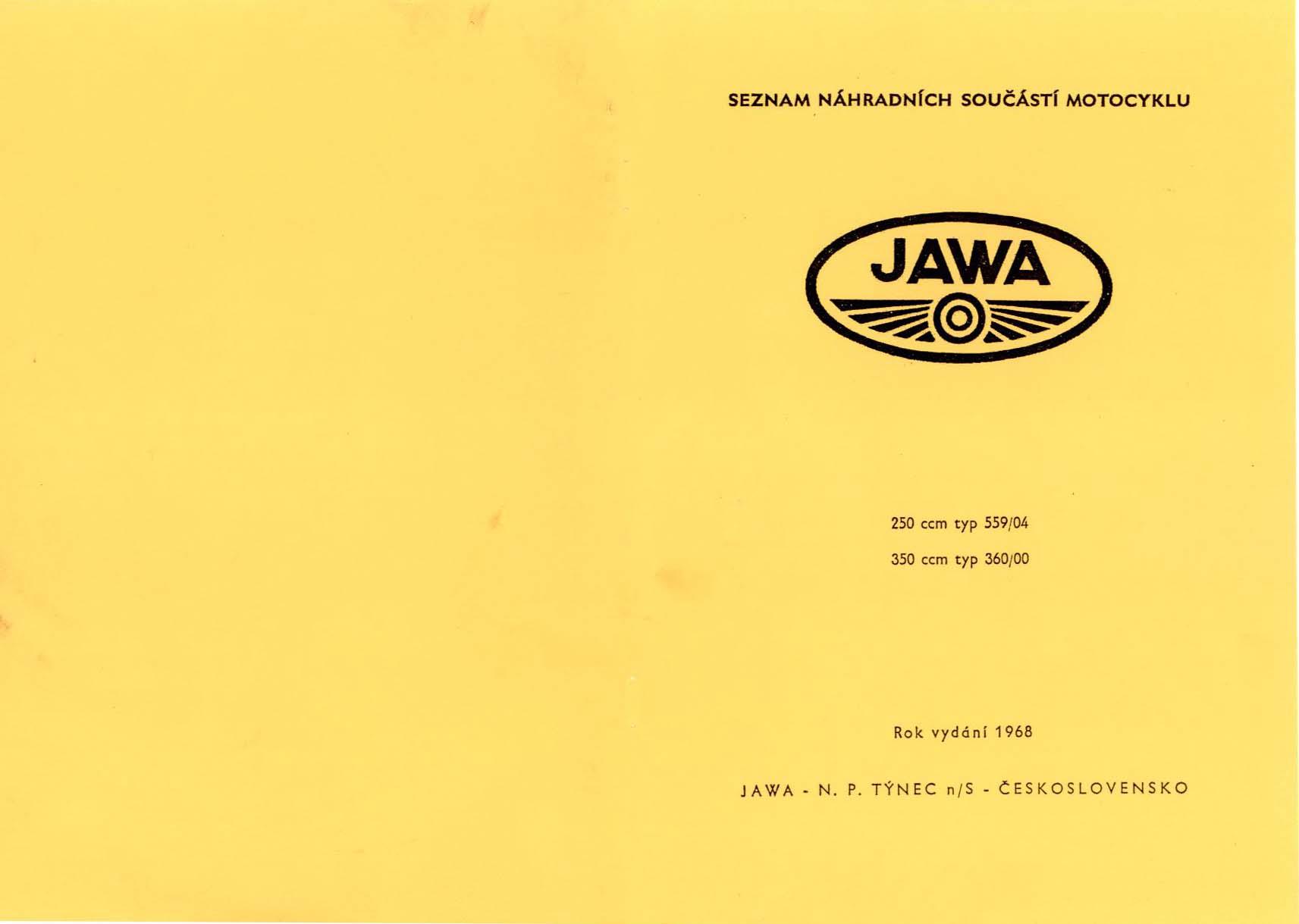 Jawa - Jawa panelka 559 a 360