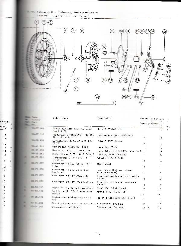 Katalog MZ 251 ETZ - 2.10. Hinterrabremse