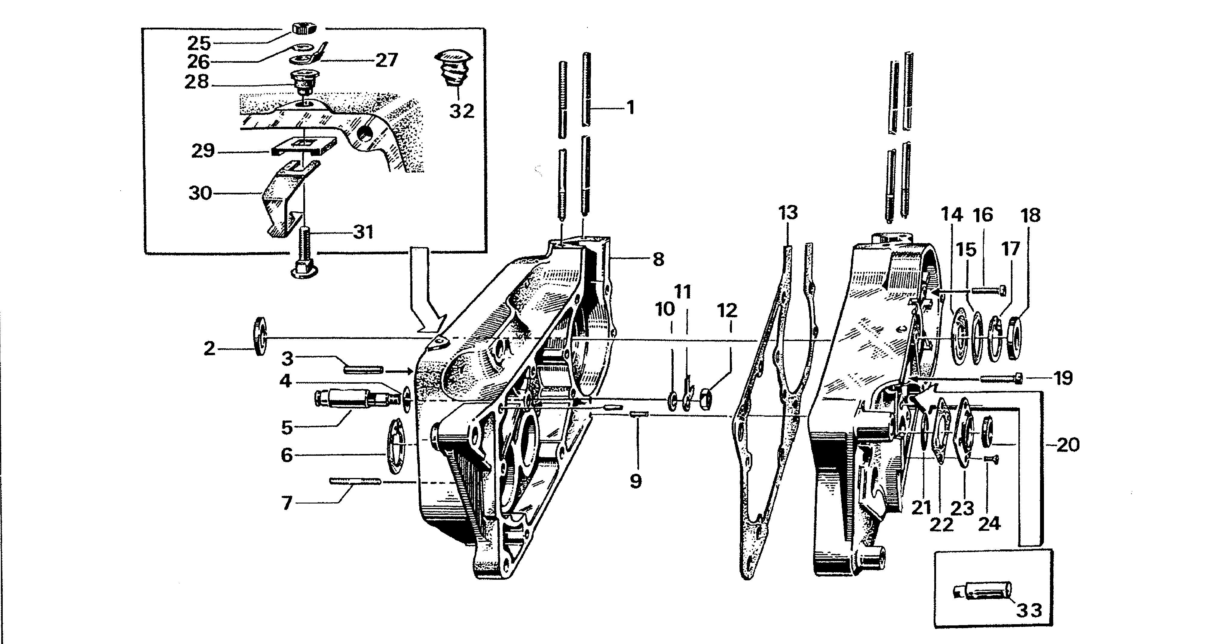 Simson S51 - Motor, kartery