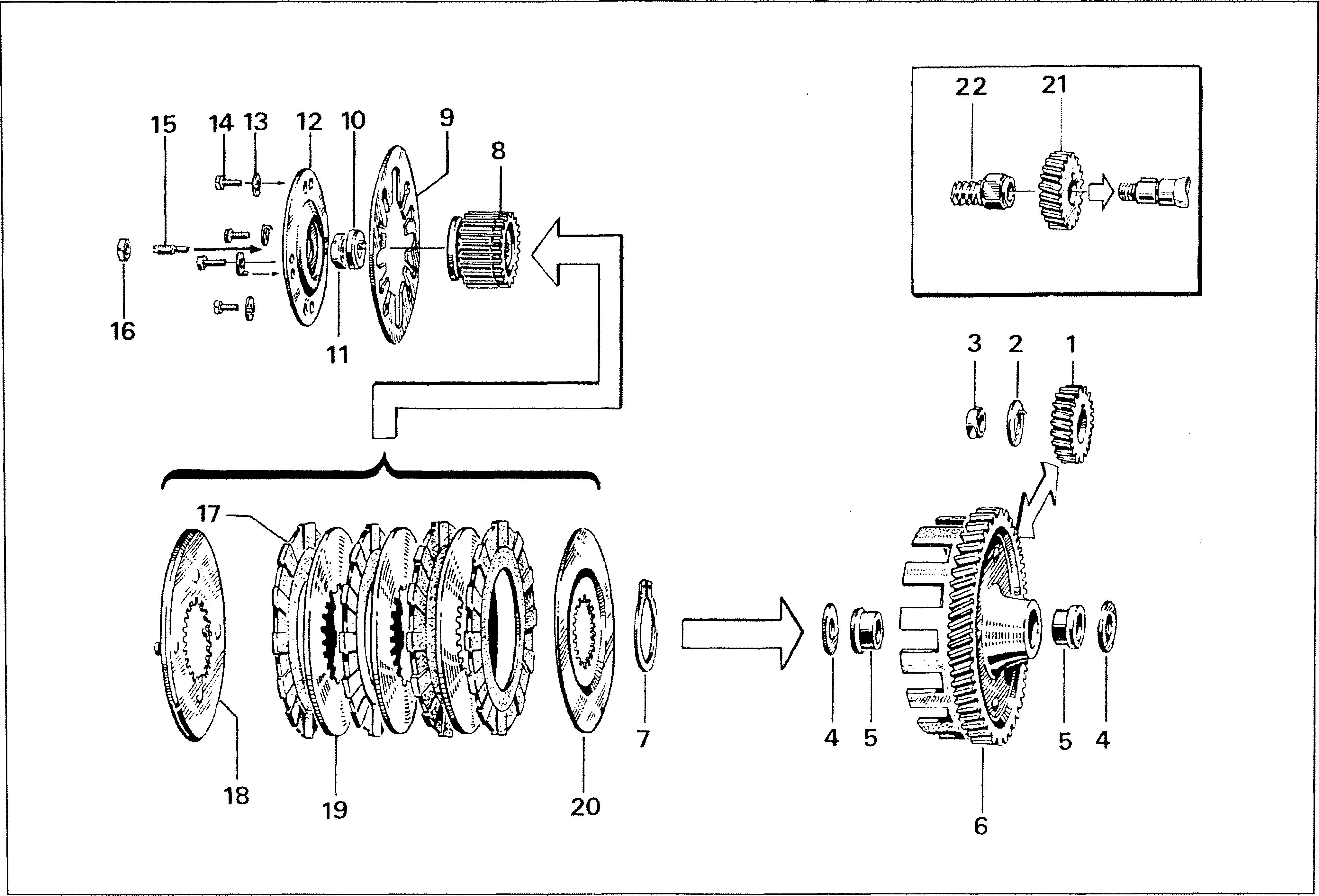 Simson S51 - Primární převod, spojka
