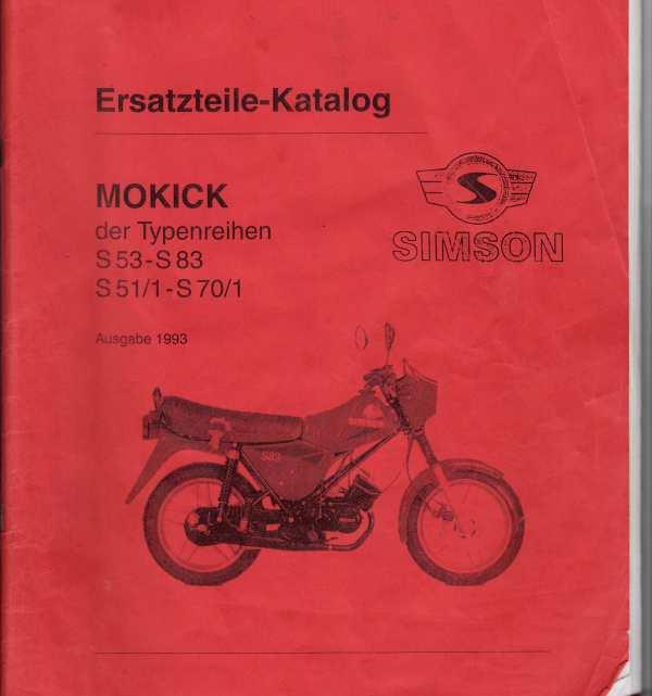 Simson - Parts catalogue Simson S51