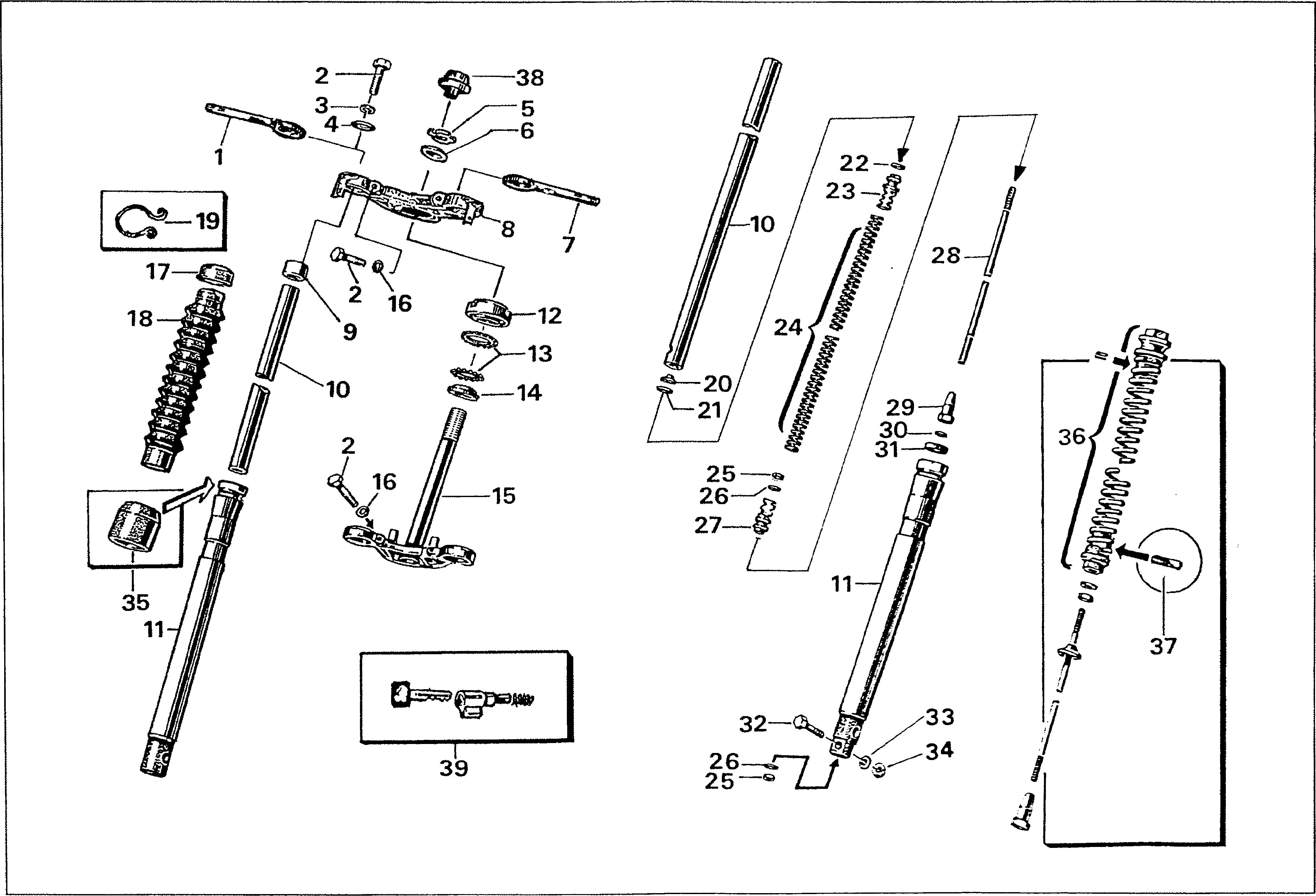 Simson S51 - Teleskopická vidlice