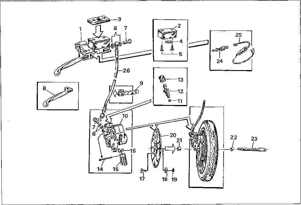 Simson S51 - Kotoučová brzda