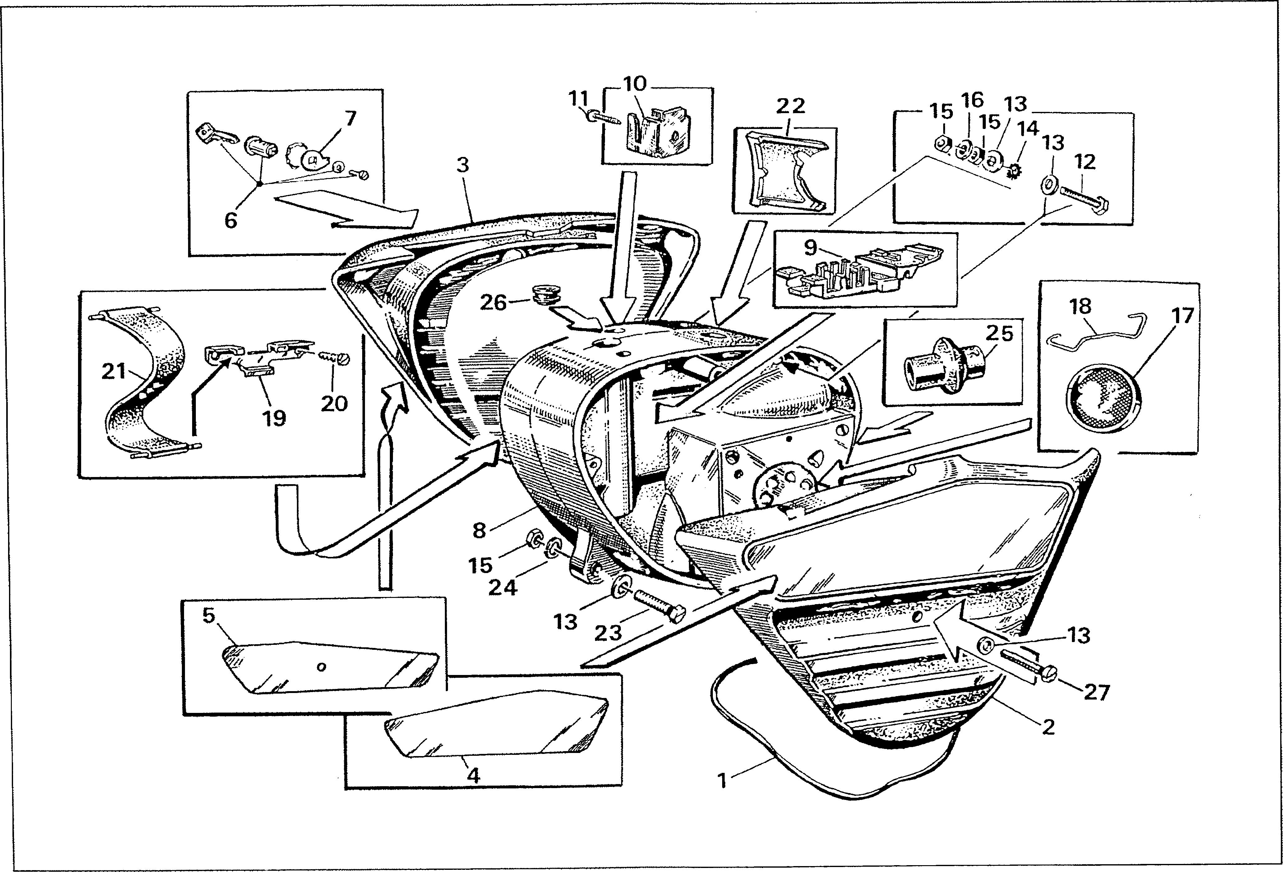 Simson S51 - Fairing under seat