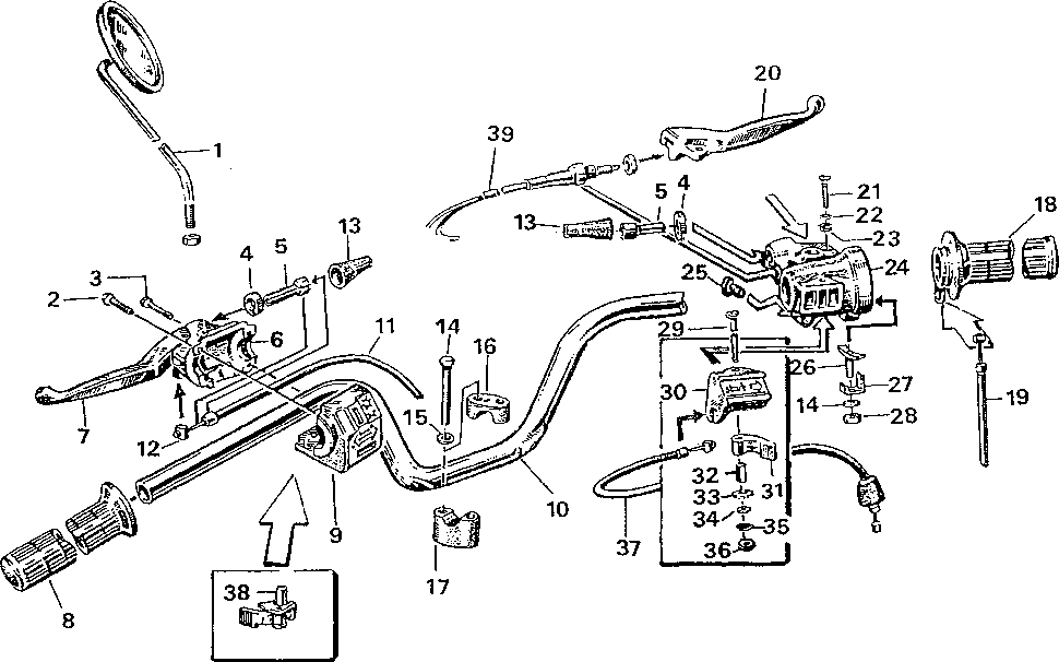 Simson S51 - Řídítka