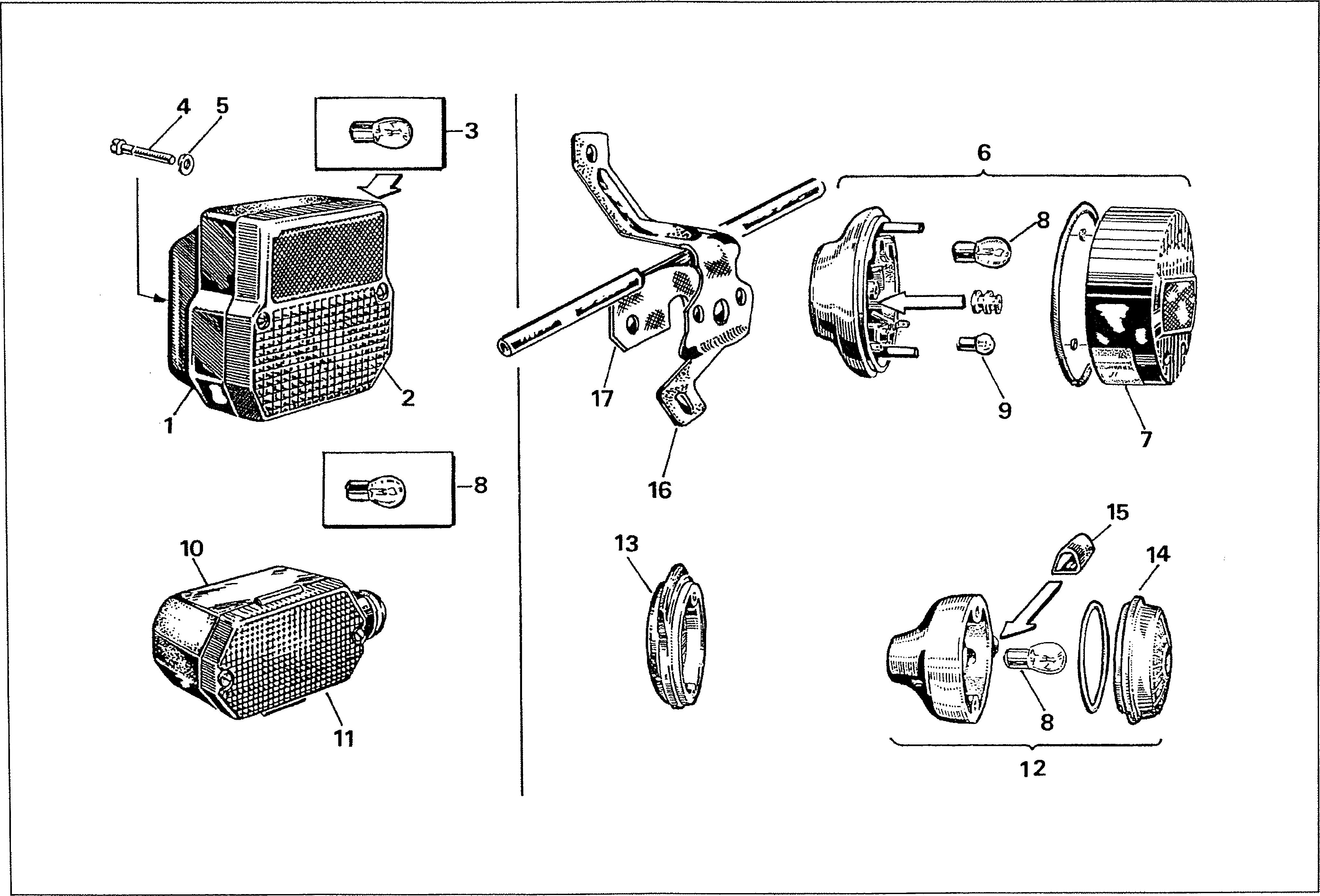 Simson S51 - Blinkry a zadní koncové světlo