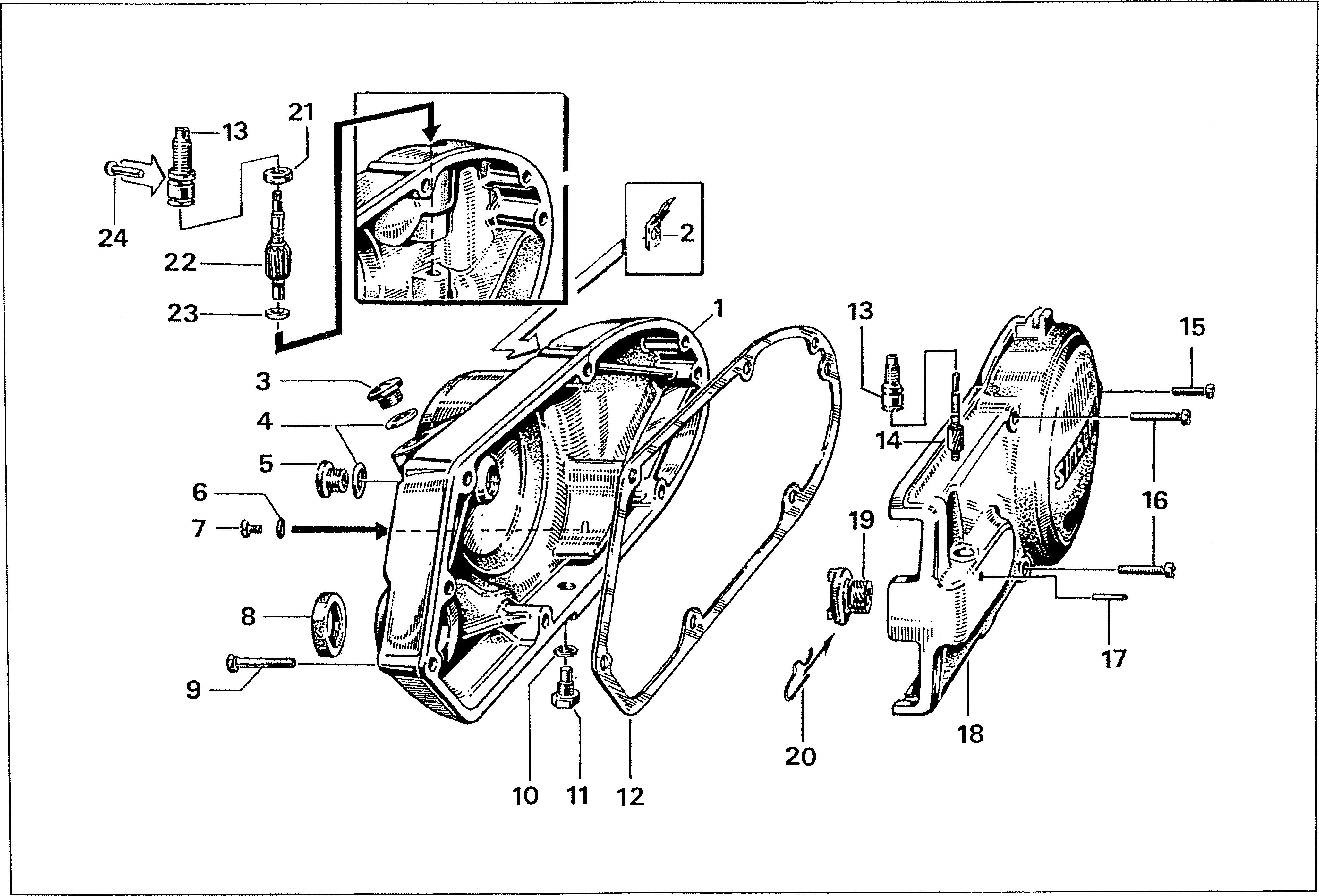 Simson S51 - Víka, kryt motoru