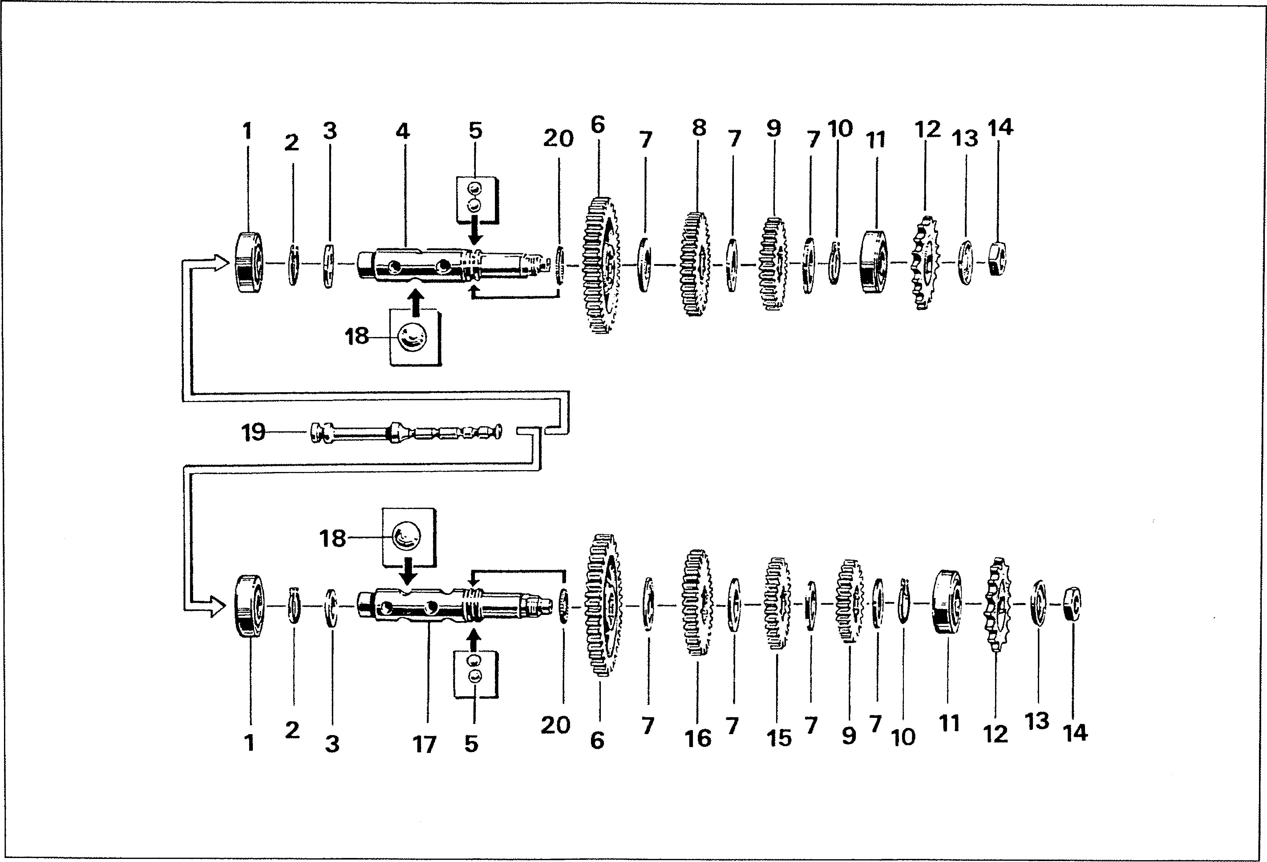 Simson S51 - Převodovka výstupní hřídel