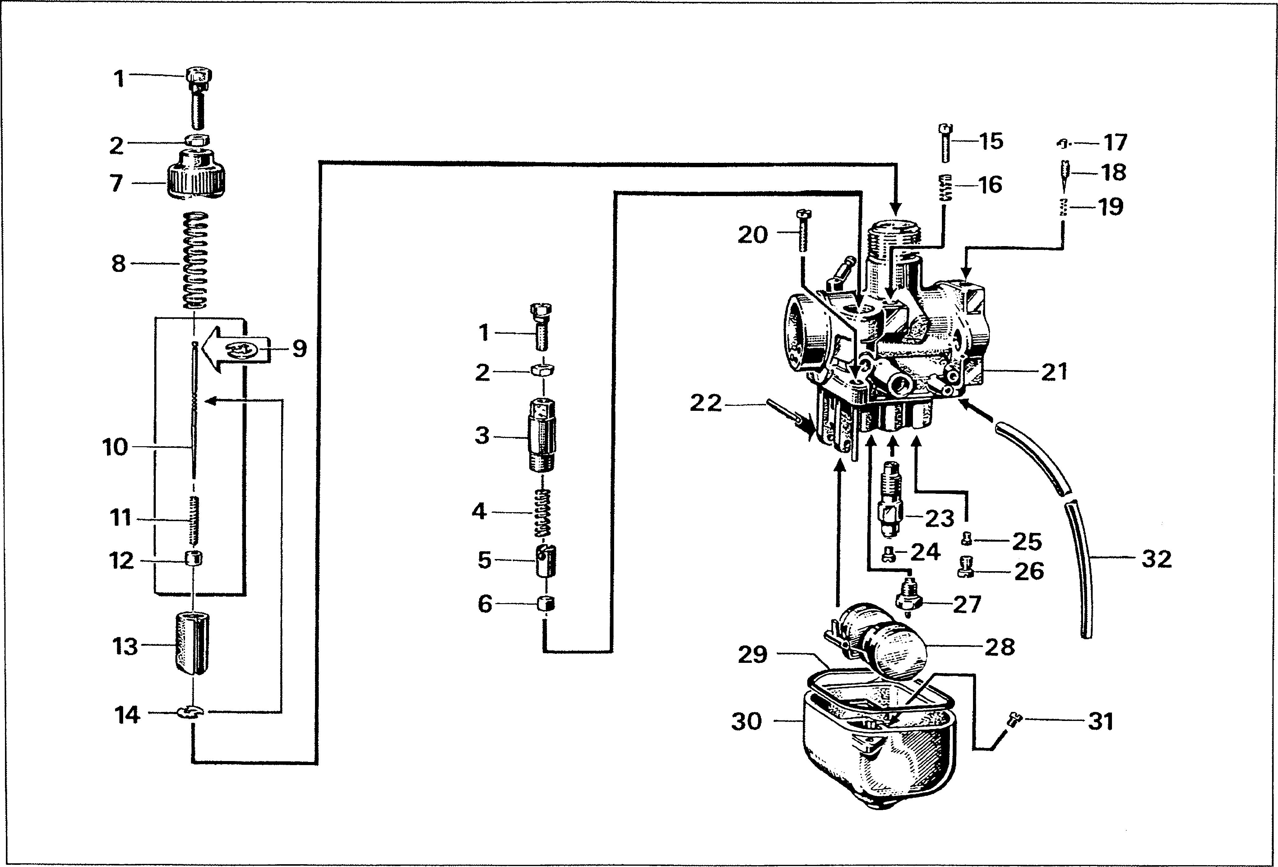 Simson S51 - Carburettor - type BVF 16N3
