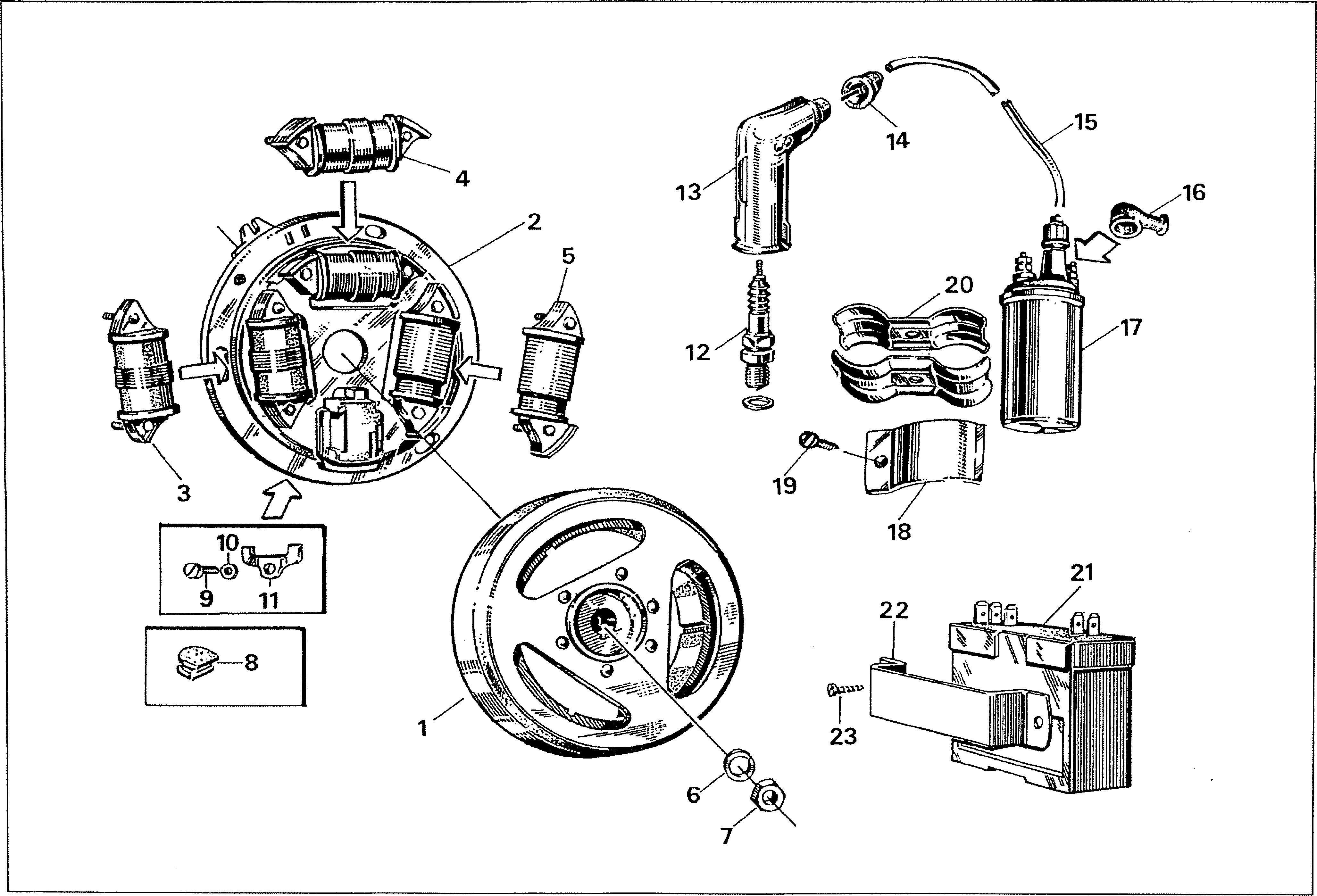 Simson S51 - Zapalování, alternátor