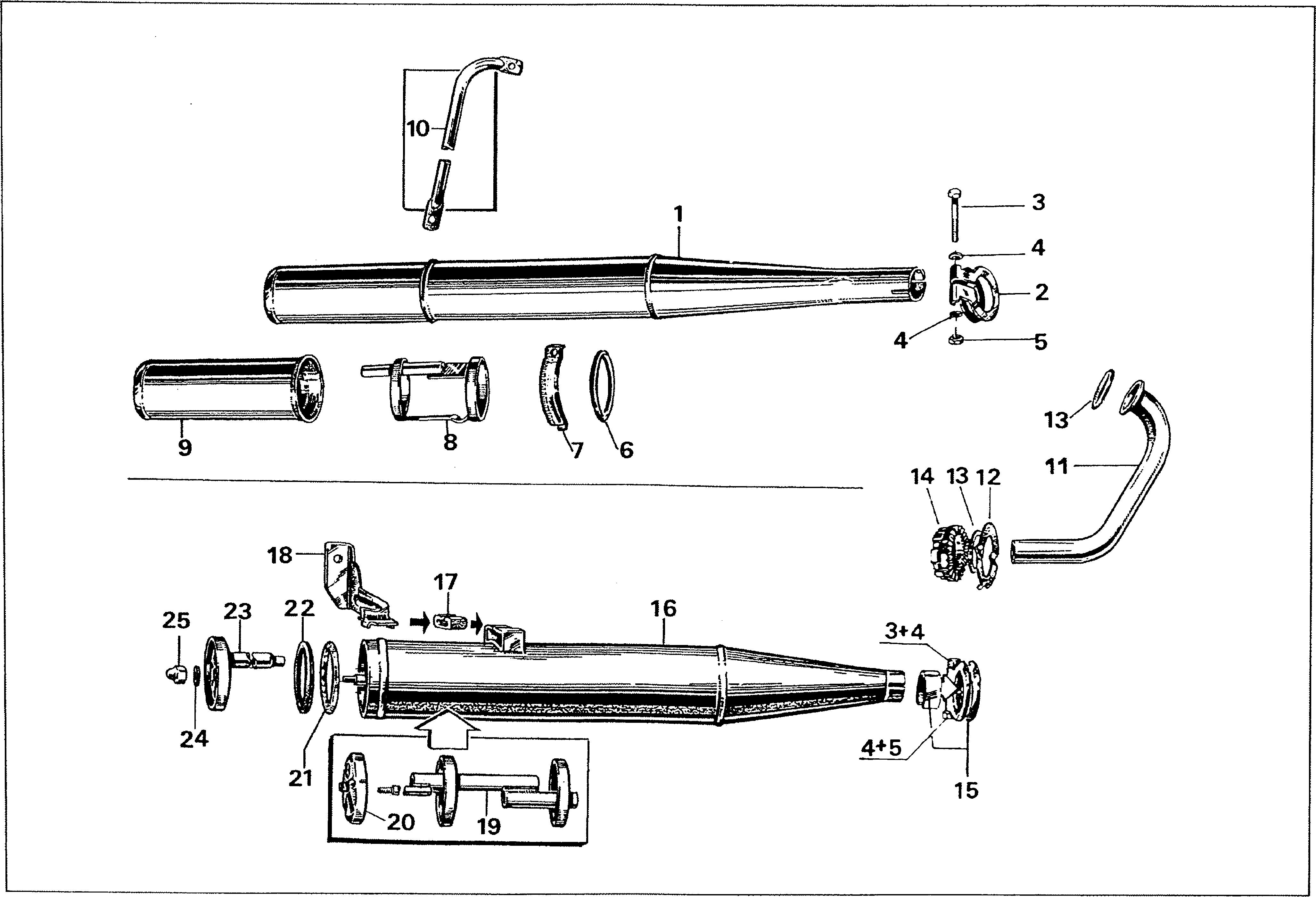 Simson S51 - Výfuk