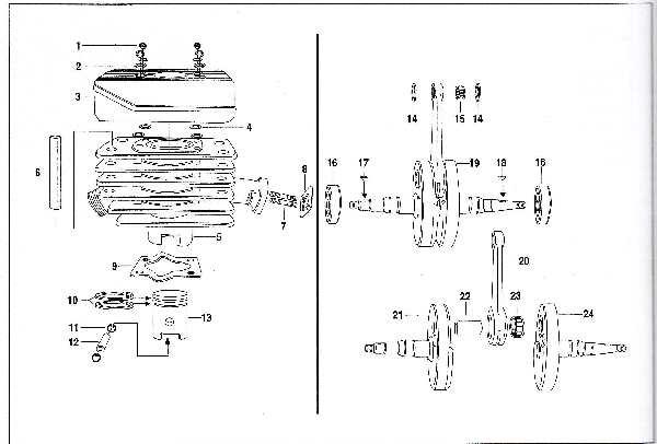 Simson SR50 - Zylinder und Kurbelwelle