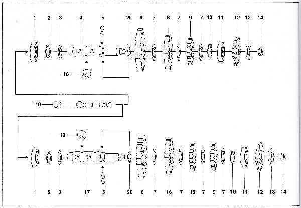 Simson SR50 - Getriebe - Abtriebswelle