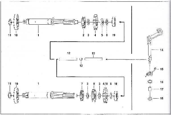 Simson SR50 - Getriebe - Kupplungswelle