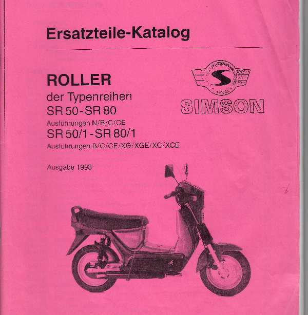 Simson - Parts catalogue Simson SR50