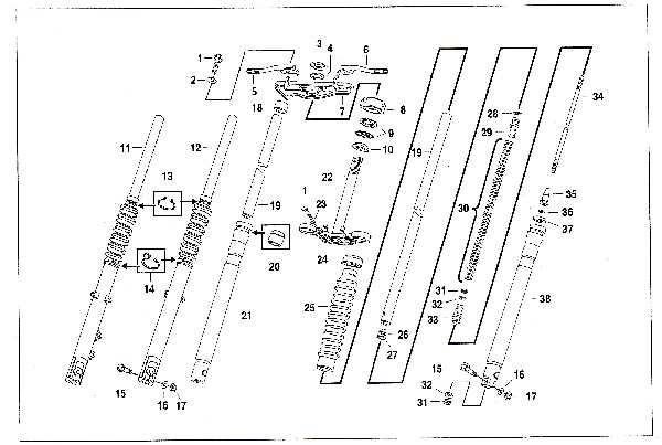 Simson SR50 - Telegabel
