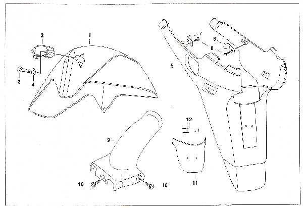 Simson SR50 - Vorder- und Hinterradkotflügel »X-Modelle«