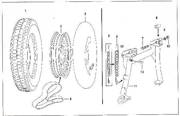 Simson SR50 - Scheibenrad und Kippständer