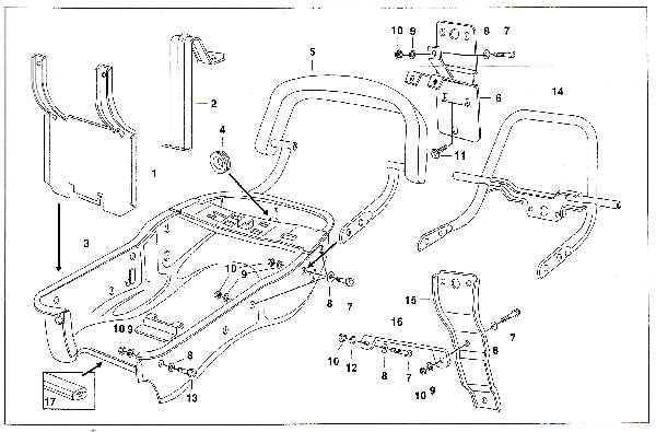 Simson SR50 - Werkzeugbehälter und Aufbockgriff