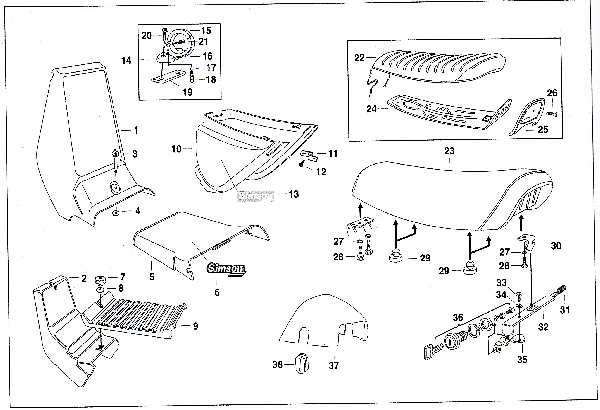 Simson SR50 - Sitzbank und Vekleidungsteile