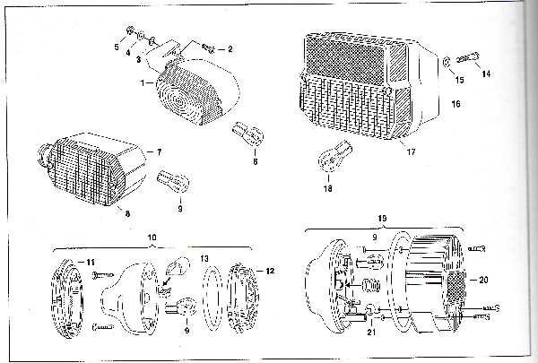 Simson SR50 - Blink- und Rückleuchten