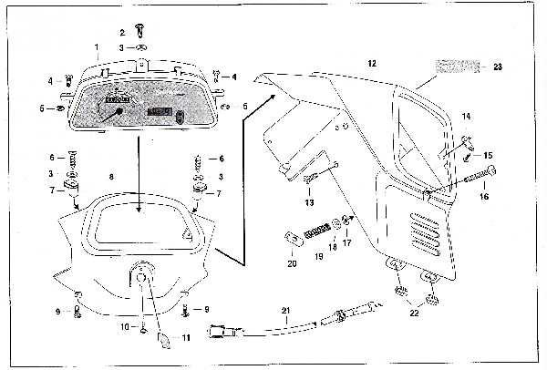 Simson SR50 - Scheinwerfergehäuse und Armaturenträger »X-Modelle«